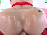 TRUE ANAL Big butt Kissa Sins ass fucked and creampied