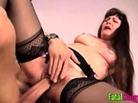 Hairy old pussy fucked real hard