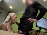 Enchanting young woman enjoys being drilled