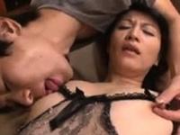 Bigass asian milf in her lingerie facialized