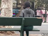 Lil Cute Ass at the Bus Stop