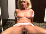 Blonde babe with big tits likes to masturbate