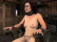 Hot gal is tearing up from her hardcore torture