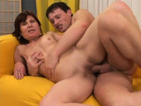 Mature lady loves seducing and fucking young studs