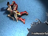 Foxy 3D brunette getting fucked hard by Iron Man