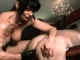 Unrestricted fucking includes femdom flogging for pecker