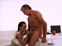 Girl fucked by old man first time Finally shes got her