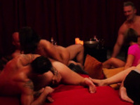 Naughty swinger couples enjoy their time