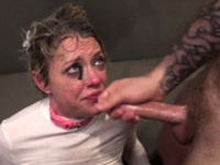 Squirting milf facialized and mouth jizzed