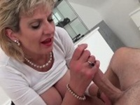 Adulterous english milf lady sonia shows off her huge knocke