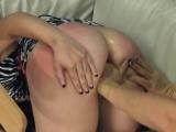 Extreme dildo analhole sex with rope BDSM teacher
